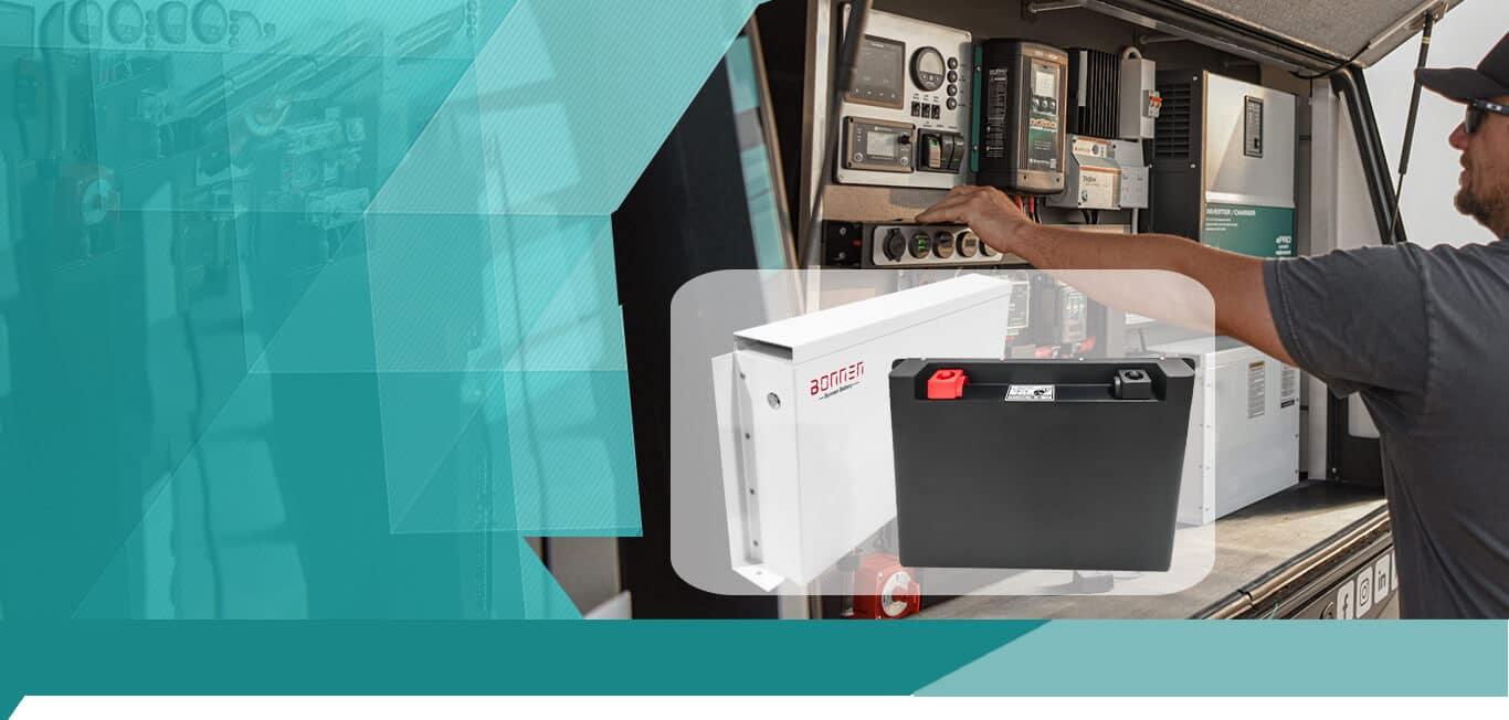 Motor-home, Caravan lithium battery from Bonnen Battery
