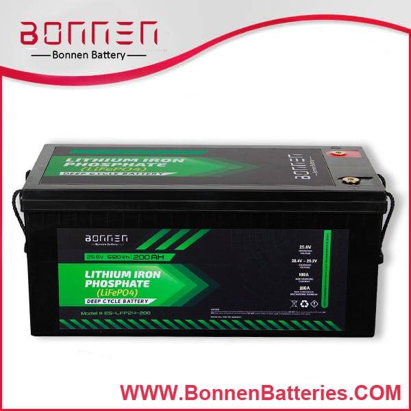 24V 200AH LiFePO4 Lithium Ion Battery